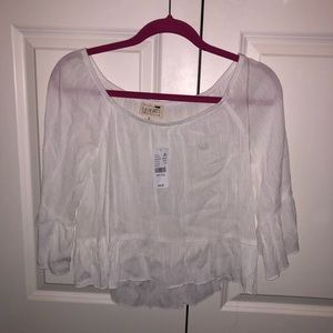 LA Hearts off the shoulder white blouse